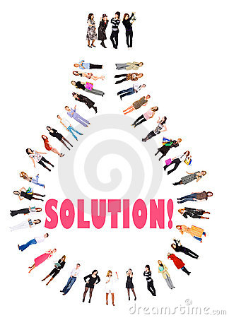 Free We Got An Solution! Royalty Free Stock Photos - 6251938