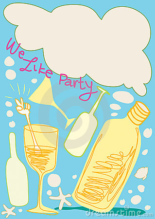 Free We Like Party Cartoon Design Has Copy Space Royalty Free Stock Photo - 14475815