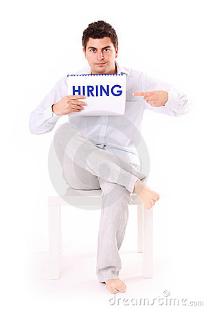 Free We Re Hiring Now! Stock Photo - 20382260