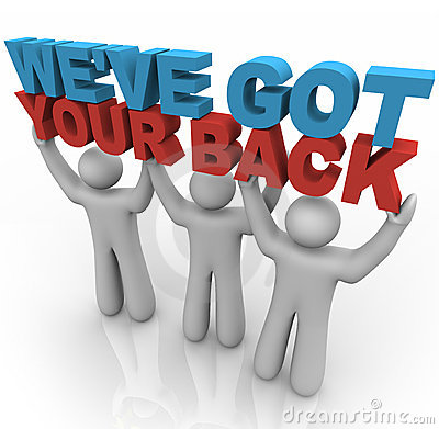 Free We Ve Got Your Back - People Lifting Words Stock Image - 16059421
