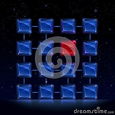 Weak link (damaged crystal lattice)