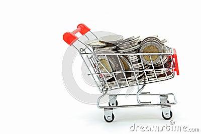 Wealth coins shopping cart