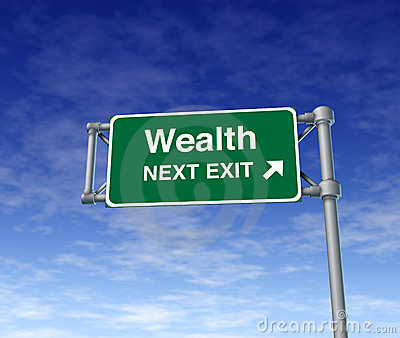 Wealth Financial freedom rich independence Sign