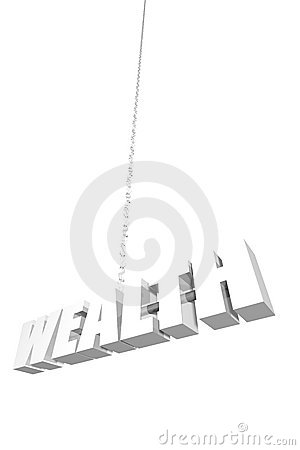Wealth hanging by a thread