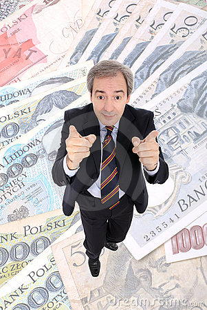 Wealthy Business man pointing