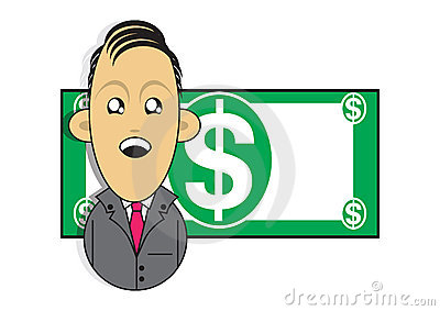 Wealthy businessman illustration