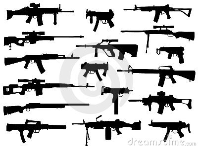 Weapon collection, automatic guns
