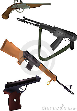 Weapon pistols and fire-arms