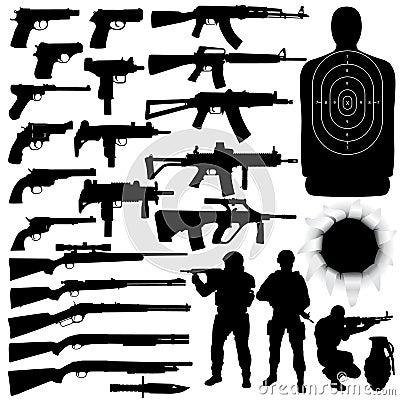 Free Weapon Set Royalty Free Stock Image - 4073826