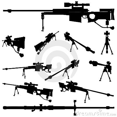 weapon silhouette set