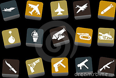 Weapons icon set Vector Illustration