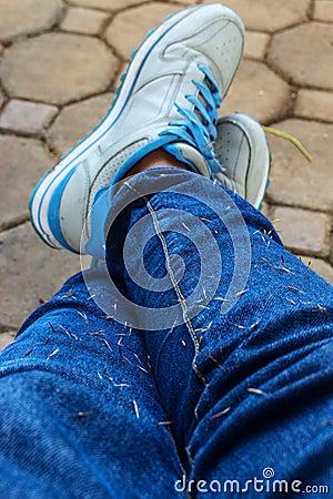Free Wear Blue Jean Stock Photography - 116046382