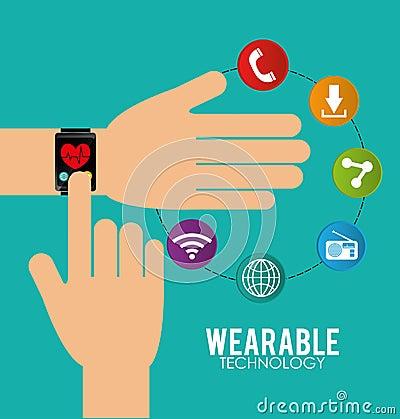 Wearable technology graphic design, vector illustration eps10.: dreamstime.com/stock-illustration-wearable-technology-graphic...