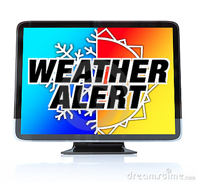 Free Weather Alert - High Definition Television HDTV Royalty Free Stock Photos - 18145538