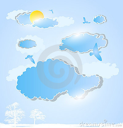 Weather art background