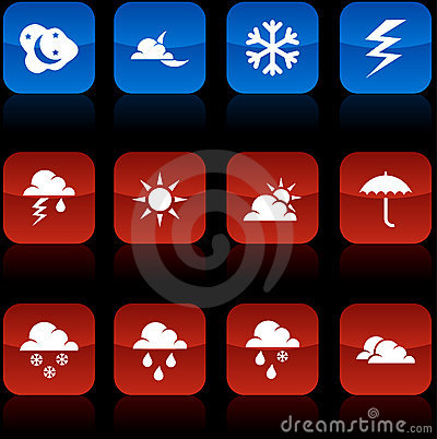 Weather  buttons.