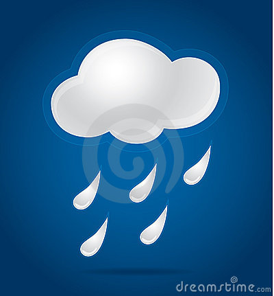 Weather cloud background with rain
