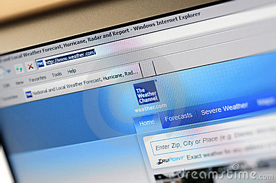 Weather.com main internet page Editorial Photo