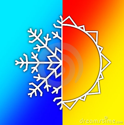 Weather Elements - Summer Sun and Winter Snow