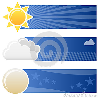 Weather Forecast Horizontal Banners