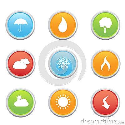 Weather Forecast Symbols Stock Images - Image: 14816334