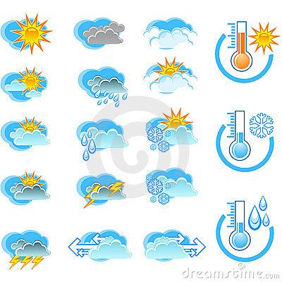 Free Weather Forecast Vector Icone Stock Photo - 2815750
