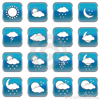 Weather forecast web buttons