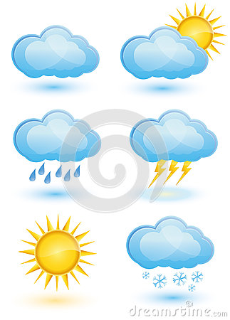 Free Weather Icon Set Stock Photography - 27391472