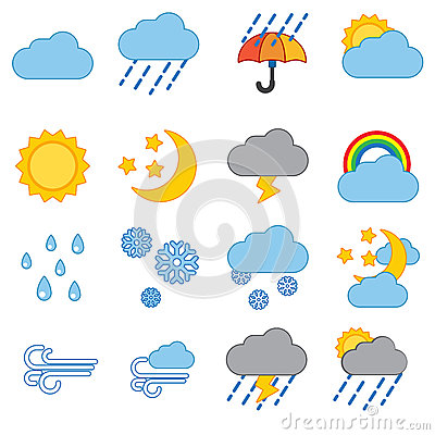 Free Weather Icon Set Stock Photography - 62762522