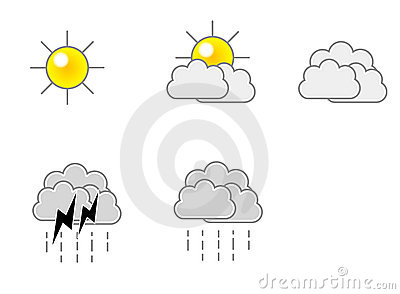 Weather Icon Vector Format