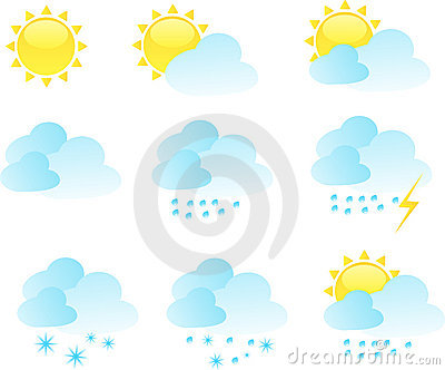 Weather icon vector set
