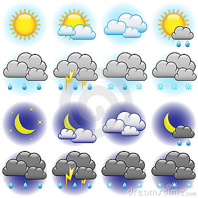 Free Weather Icons Royalty Free Stock Photos - 10167138