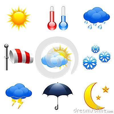 Free Weather Icons. Royalty Free Stock Photos - 12772528