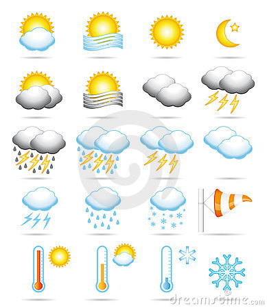 Free Weather Icons. Royalty Free Stock Photo - 17037605