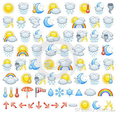 Free Weather Icons Stock Images - 19975774