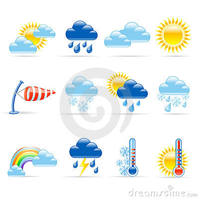 Free Weather Icons Stock Photography - 21647632