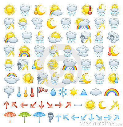 Free Weather Icons Stock Image - 22987541