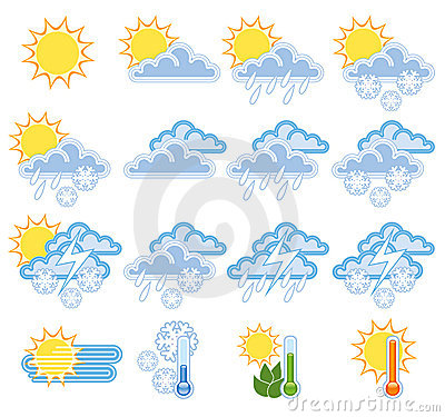 Free Weather Icons Royalty Free Stock Photography - 5224787