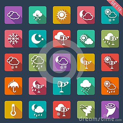 Weather icons- flat design