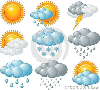 Weather Icons Royalty Free Stock Photo Image 31340215