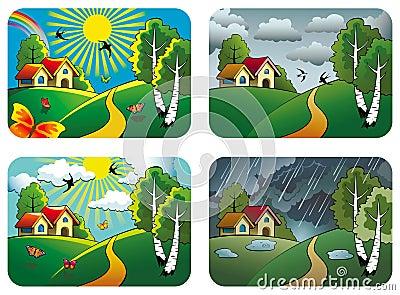Weather landscapes