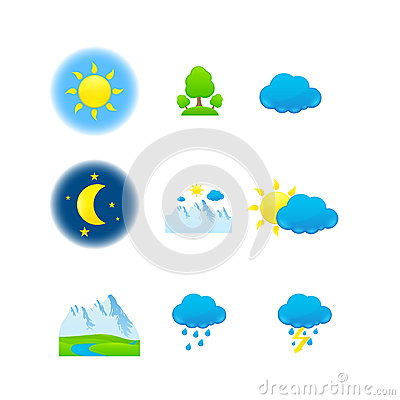 Weather & nature icons