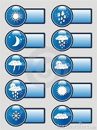 Weather pictograms banner set