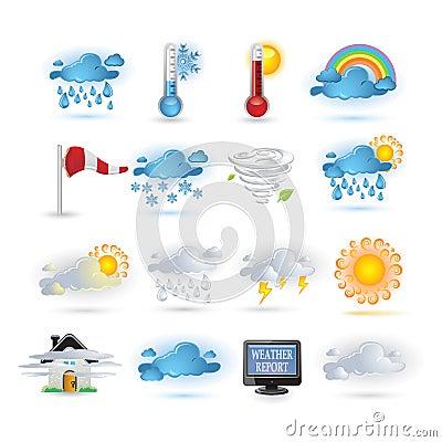 Weather report  icon set