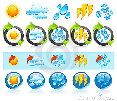 Weather round icons
