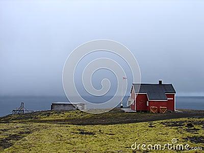 Weather station on nord coastline of Jan Mayen