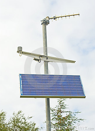 Weather station; solar powered.