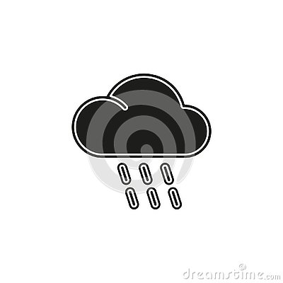 weather storm illustration, sun rain symbol - weather storm icon Cartoon Illustration