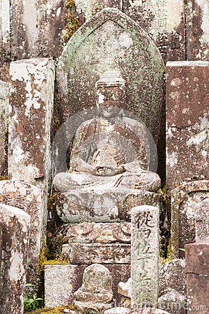 Free Weather Took Its Toll On This Sitting Bhudda Statue. Royalty Free Stock Photos - 78585048