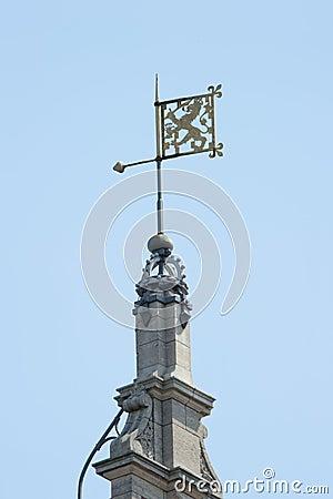 Weather vane Dutch lion ornament